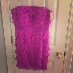 NWT Phoebe Couture purple cocktail dress size 12